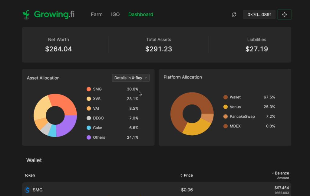 スクリーンショット 2021 06 26 17.10.35 1024x649 - 【BSC】Growing.fiの紹介!資産管理ツールとファームを兼ね備えたハイブリッドプロトコル【DeFi】