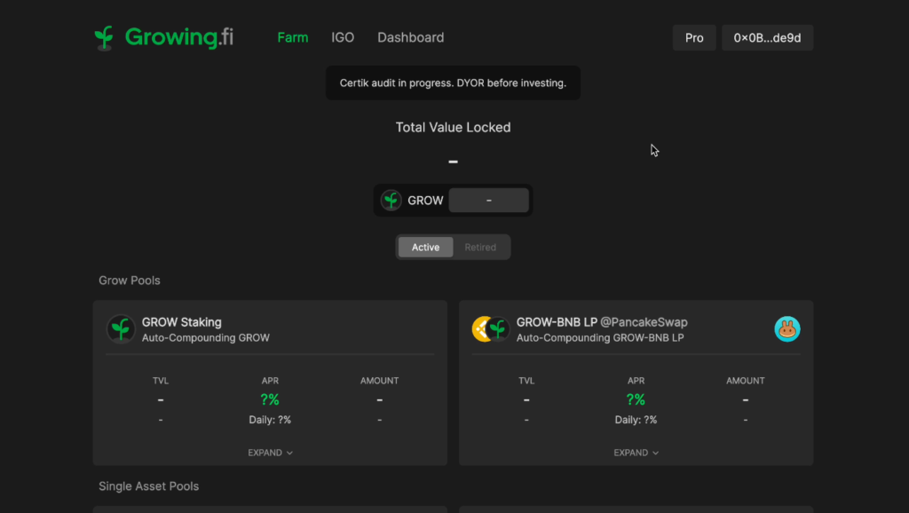 スクリーンショット 2021 06 26 17.39.50 1024x578 - 【BSC】Growing.fiの紹介!資産管理ツールとファームを兼ね備えたハイブリッドプロトコル【DeFi】