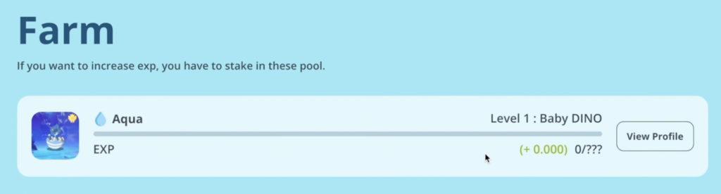 スクリーンショット 2021 07 01 18.28.08 1024x276 - 【DeFi】経験値を貯めてファームができるDINOPARKを実際にやってみました。
